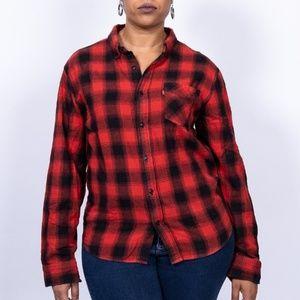 Vintage Levi's Buffalo plaid flannel shirt, size L